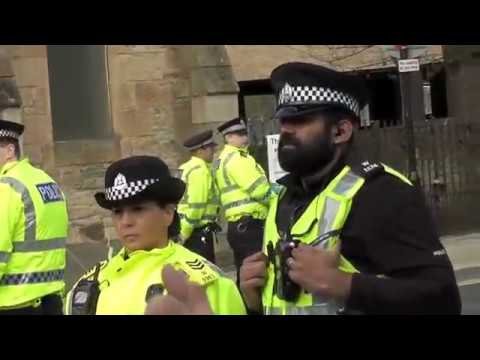 Scottish Defence League (SDL) demonstration in Wishaw 15th of April 2017