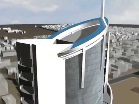 JSB Financial Tower Kathmandu in 3ds max panorama and walkth