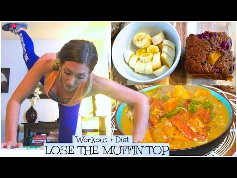 LOSE THE MUFFIN TOP ☀︎ Workout + Diet (Vegan Curry Recipe) [Day 69]