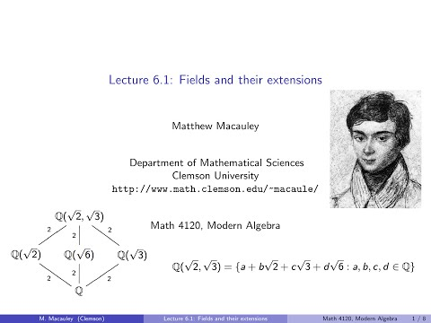 Visual Group Theory, Lecture 6.1: Fields and their extensions