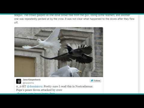 Prophetic Sign?  Pope Francis Releases Peace Dove and Black Crow Attacks Instantly!
