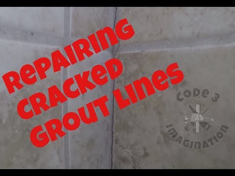 Repairing Cracked Grout Line in the Shower