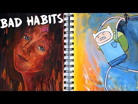 5 Bad Artist Habits to Avoid