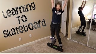 LEARNING TO SKATEBOARD!