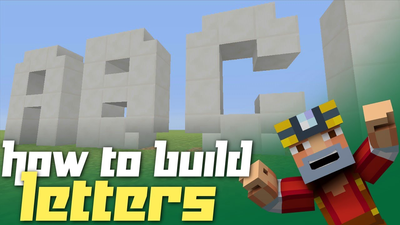 Minecraft Xbox 360 How to Build Letters Block Alphabet Tutorial