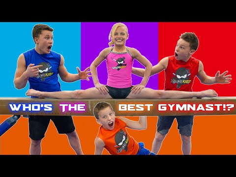 Who is the best at gymnastics? Brothers and Sister Challenge!