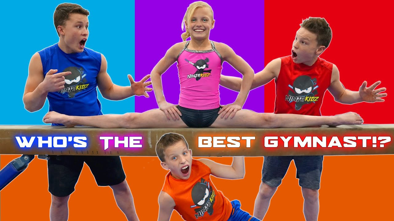 Download Who is the best at gymnastics? Brothers and Sister Challenge!