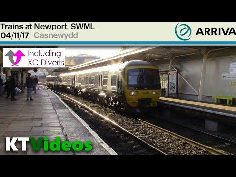 Trains at Newport, SWML - 4/11/17