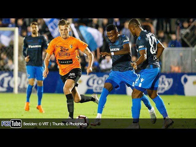 2018-2019 - Croky Cup - 01. 16de Finale - KMSK Deinze - Club Brugge 2-0