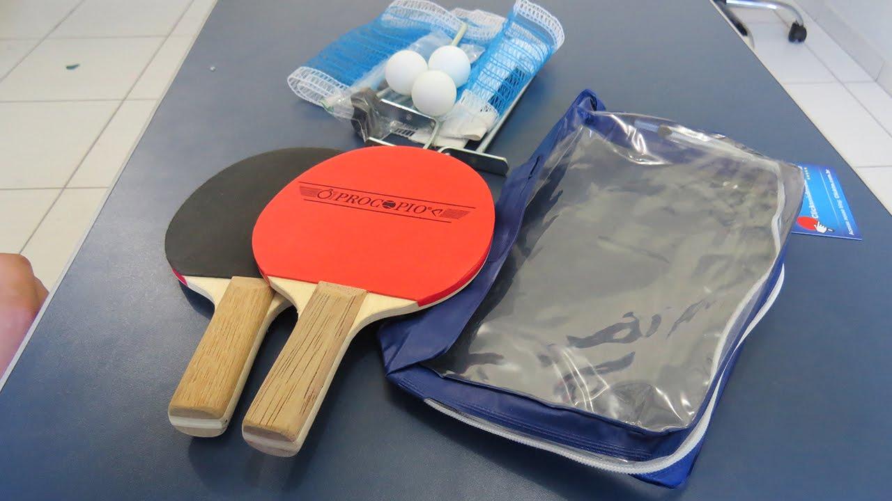 31985d4bed Kit de Tênis de Mesa com Raquete e Rede da Procopio - YouTube