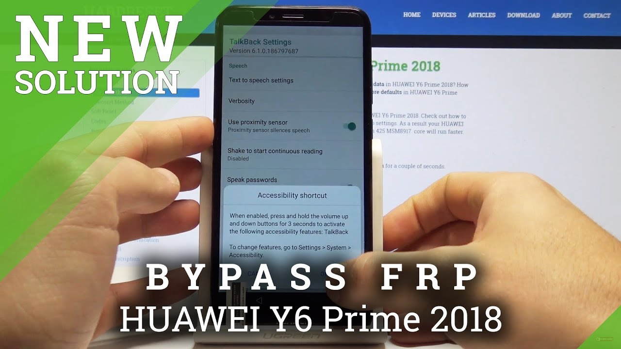 How to Bypass Google Verification in HUAWEI Y6 Prime 2018 - Unlock Factory  Reset Protection