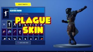 NEW PLAGUE SKIN DOES UNRELEASED DANCES/EMOTES IN-GAME FORTNITE