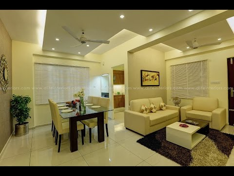 Modern Furnishings of a Flat at Galaxy Cloud Space, Kakkanad, Kochi