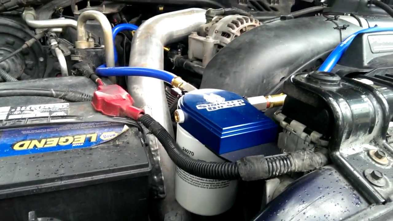 howto  ford 6 0l psd sinister coolant filter install