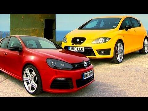 VW Golf R vs Seat Leon Cupra R - Fifth Gear