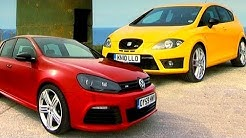 VW Golf R vs Seat Leon Cupra R - Fifth Gear