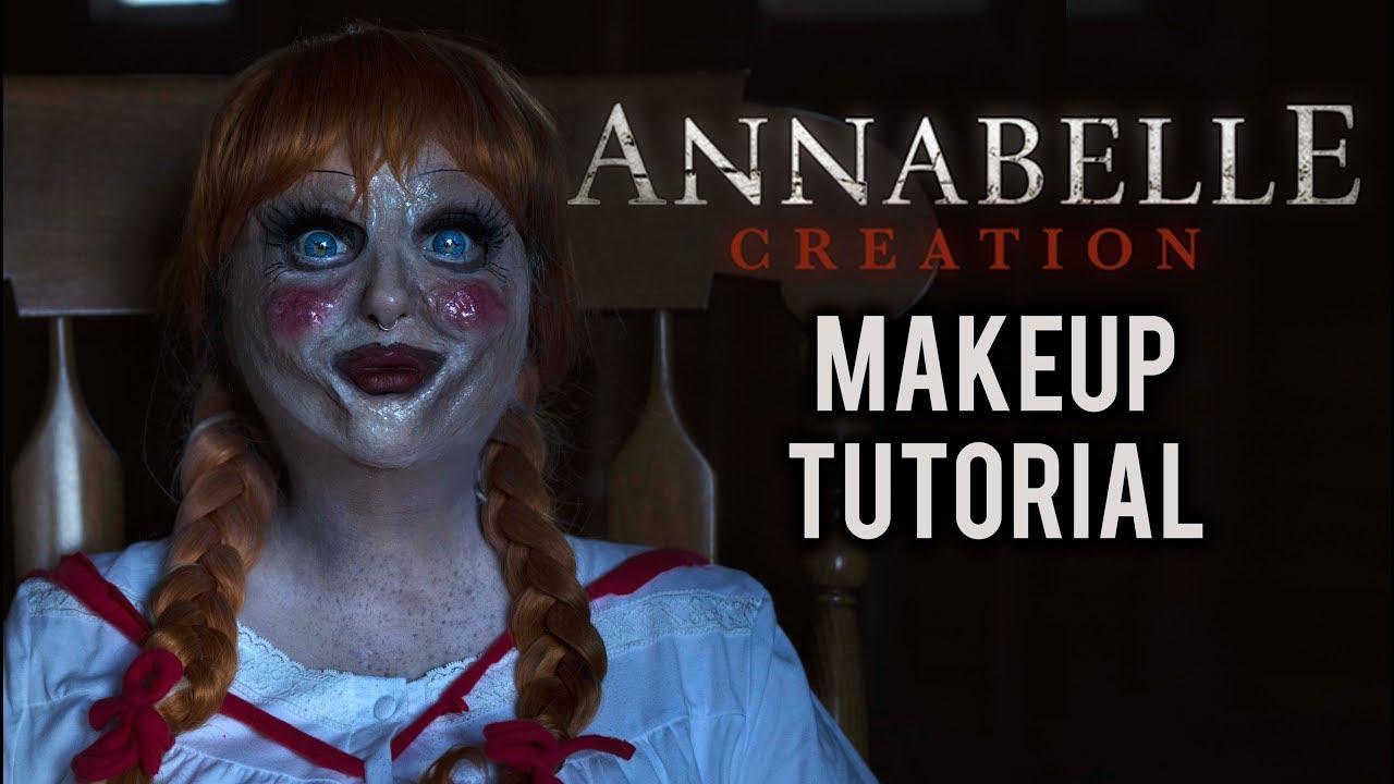 annabelle halloween costume makeup tutorial