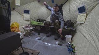 ОДИН НА ЛЬДУ рыбалка с домашним комфортом 2020  НОЧНОЙ ШТОРМ!!! выезд 3