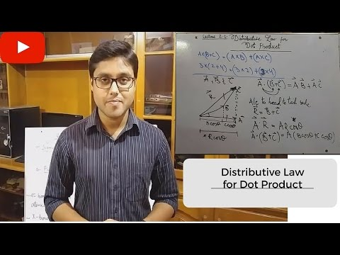 Distributive Law for Dot Product