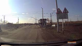Мариинск, ж/д переезд перед Калининским
