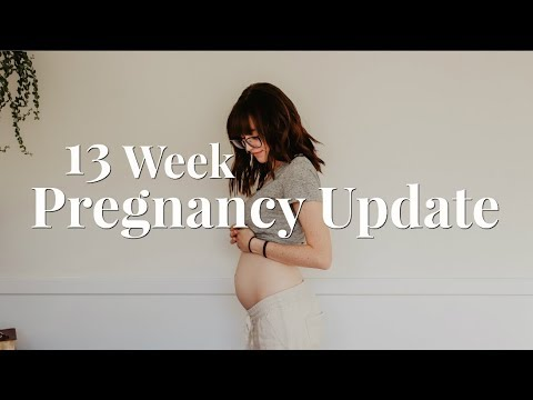 FEELING THE BABY MOVE AT 11 WEEKS!? | 13 WEEK PREGNANCY UPDATE + BUMP SHOT