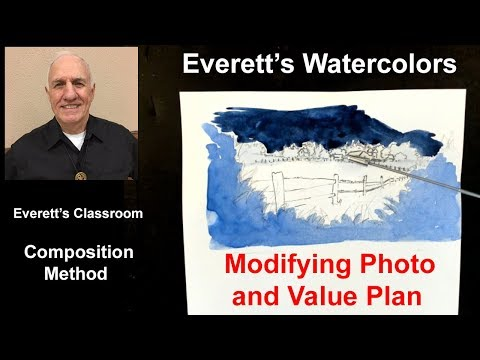 Composition Value Plan for Watercolor Paintings
