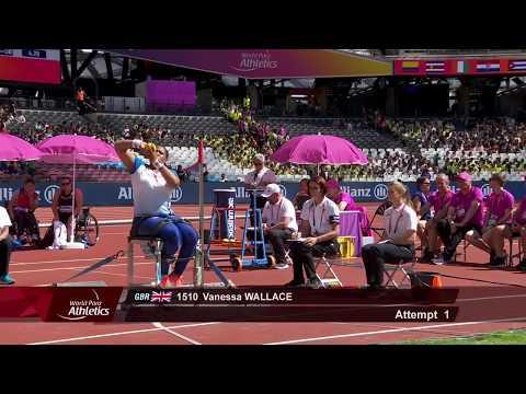 Lijuan Zou   Gold Women's Shot Put F34   Final   London 2017 World Para Athletics Championships