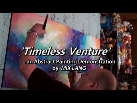 "Creative Painting, Simple, Fun, Colorful, Dreamy, ""Timeless Venture"""