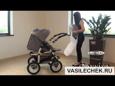 Как сложить детскую коляску трансформер sorriso видео