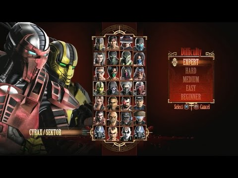 Mortal Kombat 9 - Expert Tag Ladder (Cyrax & Sektor/3 Rounds/No Losses)