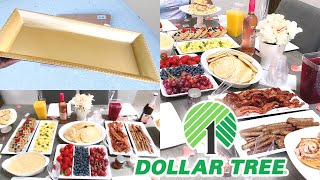 """HOW TO"" DIY DOLLAR TREE ALL WHITE BRUNCH"