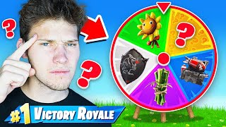 *RANDOM* Back Bling SPIN THE WHEEL Challenge In Fortnite!