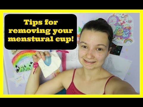 Tips for removing your menstrual cup!