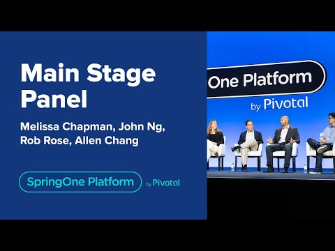 Main Stage Panel at SpringOne Platform 2019