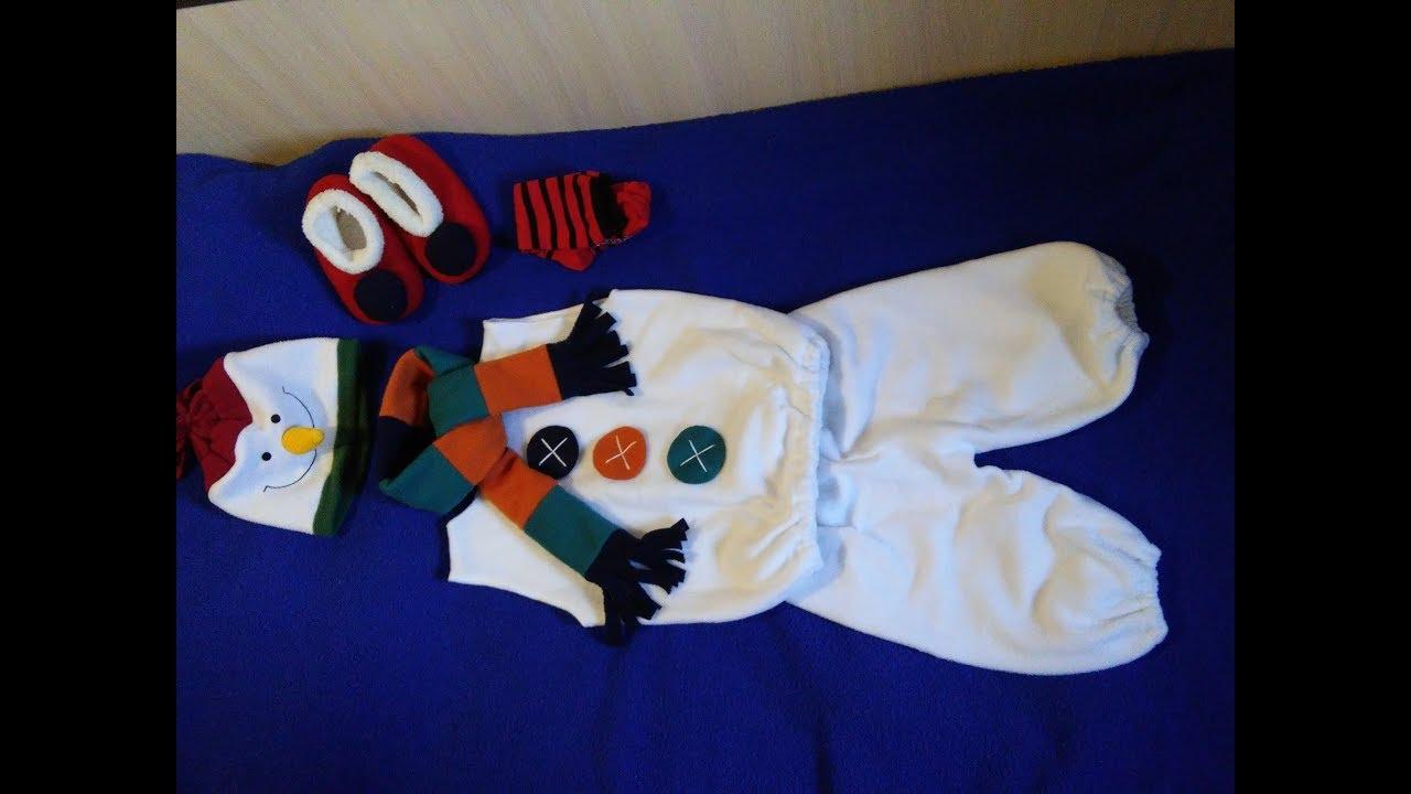 Как сделать костюм снеговика видео фото 422