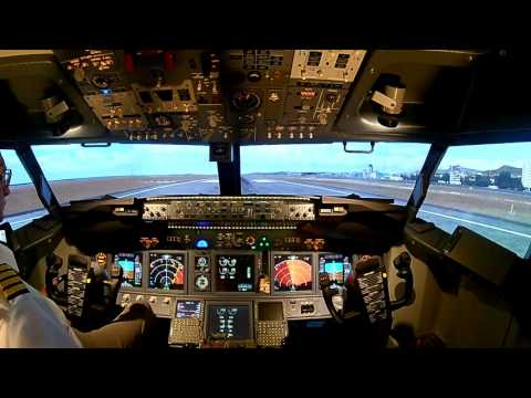 [P3D] Boeing 737 full cockpit simulator. Flight around Nice Côte d'Azur airport (LFMN)