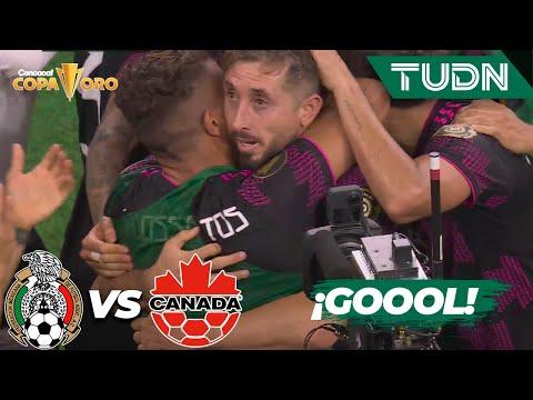 ¡GOLAZO! ¡Gol CARDÍACO de 'HH'!   México 2-1 Canadá   Copa Oro 2021 - Semifinal   TUDN