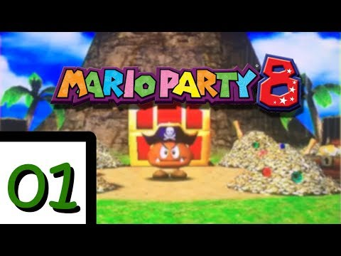 Mario Party 8 Gameplay EP1- Goomba's Booty Boardwalk Part 1 (2 Player)