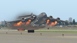 Пилот C-17 допустил большую ошибку при взлете | XPlane 11