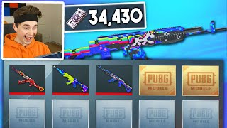 3 NEW WEAPON SKINS 1 OPENING | 34000 UC PUBG MOBILE