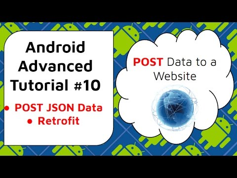 Android JSON Retrofit Example [Posting JSON to Web]