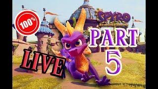 CalvertSheik Plays Spyro Reignited Trilogy Part 5 (LIVE) 100%