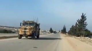 Сирия. Война в Сирии. Турецкий спецназ уезжает под конвоем российской армии