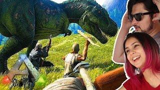 Sobrevivendo na terra dos DINOSSAUROS! - ARk Survival evolved