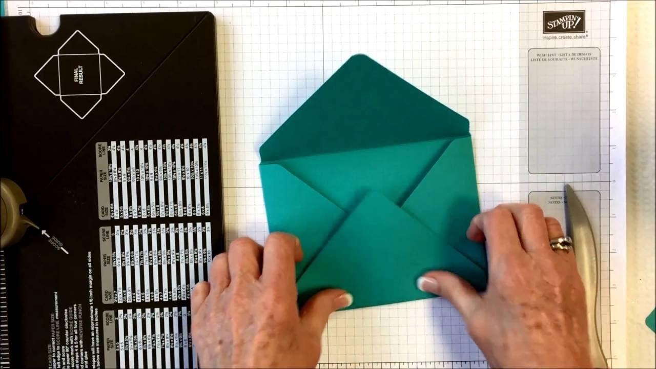insta enveloppe stampin 39 up comment faire une enveloppe youtube. Black Bedroom Furniture Sets. Home Design Ideas