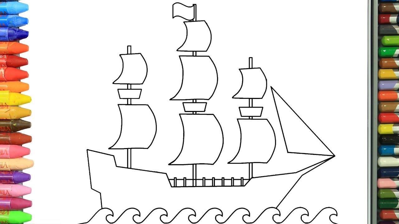 Yelkenli Gemi Nasil Yapilir Nasil Cizilir Boyama Ve Resim Yapma