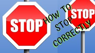 Stop Signs - Rules for Driving Test - Failing Stop Signs in PDA