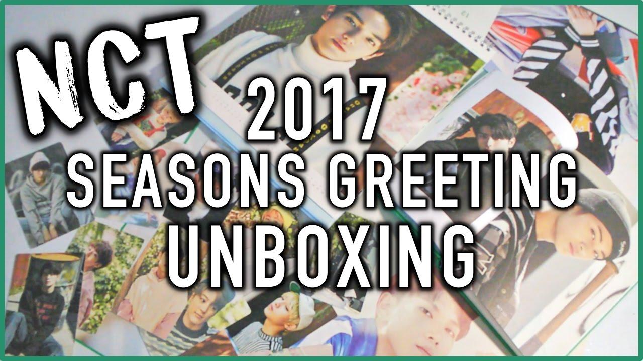 Unboxing Nct 2017 Seasons Greetings Youtube