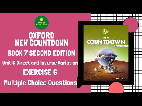Oxford New Countdown | Book 7 | Unit 6 | Multiple Choice Questions | Direct and Inverse Variation