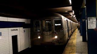 MTA New York City Subway : R68 & R68A Yankees Baseball Specials via 6th Avenue & 8th Avenue